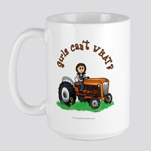 Light Orange Farmer Large Mug