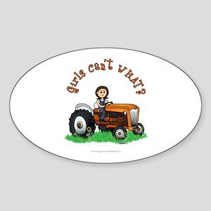 Light Orange Farmer Sticker (Oval)