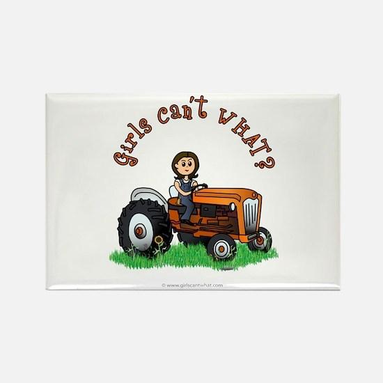 Light Orange Farmer Rectangle Magnet