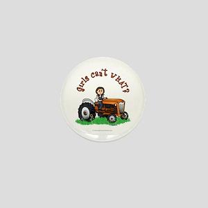 Light Orange Farmer Mini Button