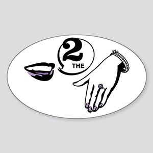 TTTH Rebus Oval Sticker