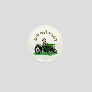 Light Green Farmer Mini Button