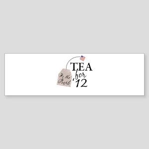 Vote Tea Party 2012 Sticker (Bumper)