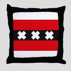 Amsterdam Flag Throw Pillow