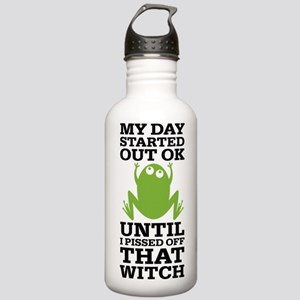 Funny Frog Mean Witch Stainless Water Bottle 1.0L