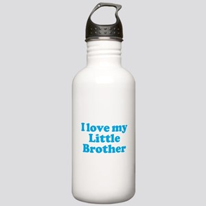 I Love My Little Brother Stainless Water Bottle 1.
