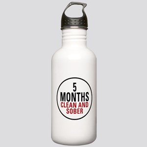 5 Months Clean & Sober Stainless Water Bottle 1.0L