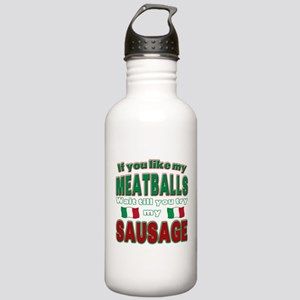 Italian Food Stainless Water Bottle 1.0L