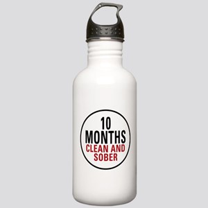 10 Months Clean & Sober Stainless Water Bottle 1.0