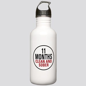 11 Months Clean & Sober Stainless Water Bottle 1.0