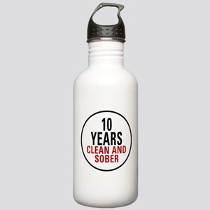 10 Years Clean & Sober Stainless Water Bottle 1.0L