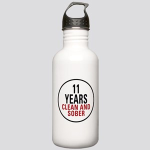 11 Years Clean & Sober Stainless Water Bottle 1.0L