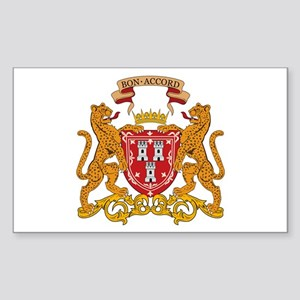 Aberdeen Coat of Arms Rectangle Sticker