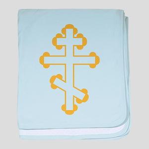Orthodox Plain Cross baby blanket