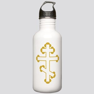 Orthodox Plain Cross Stainless Water Bottle 1.0L