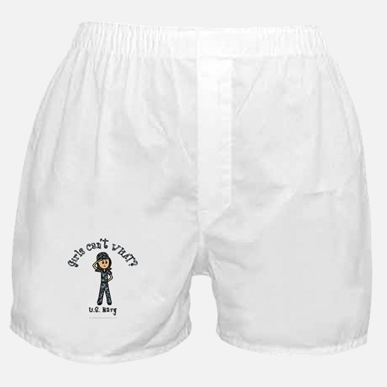 Light Navy Girl USA Boxer Shorts