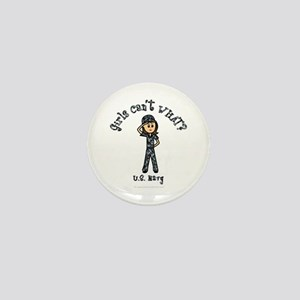 Light Navy Girl USA Mini Button