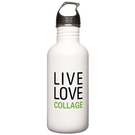 Live Love Collage Stainless Water Bottle 1.0L