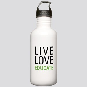 Live Love Educate Stainless Water Bottle 1.0L