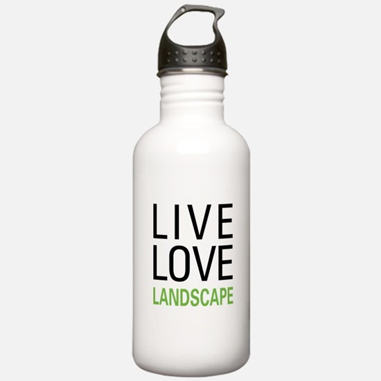 Live Love Landscape Water Bottle