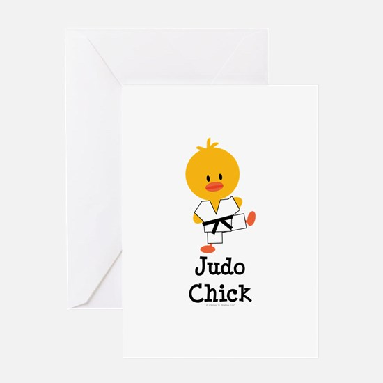 Judo Chick Greeting Card