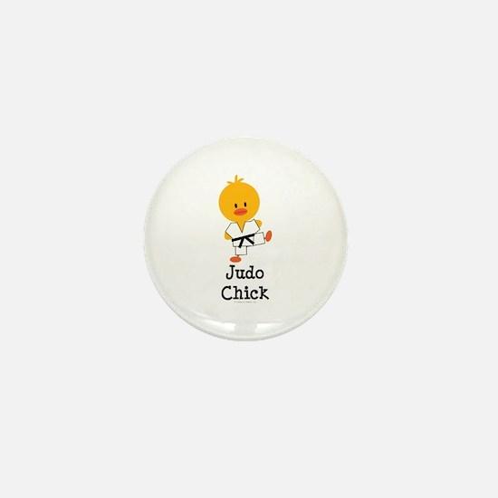 Judo Chick Mini Button