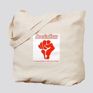 Socialism Action Fist Tote Bag