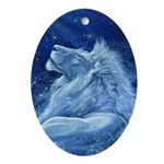 Star Lion Ornament (Oval)