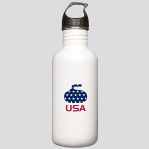 USA curling Stainless Water Bottle 1.0L