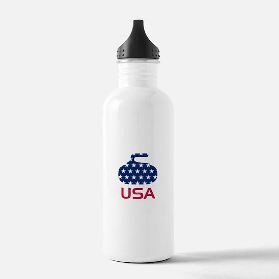USA curling Water Bottle