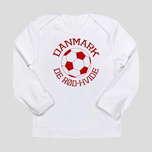 Danmark Rod-Hvide Long Sleeve Infant T-Shirt