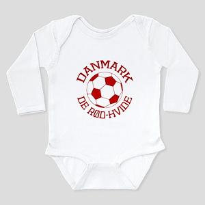 Danmark Rod-Hvide Long Sleeve Infant Bodysuit