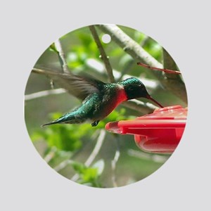 Hummingbird Ornament #2 (Round)