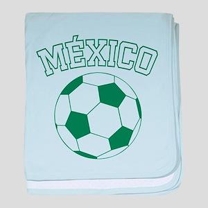 Mexico Futbol baby blanket