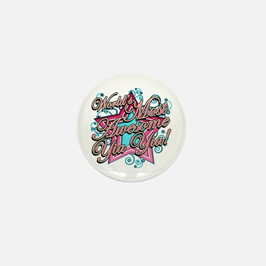 Worlds Most Awesome Yia Yia Mini Button