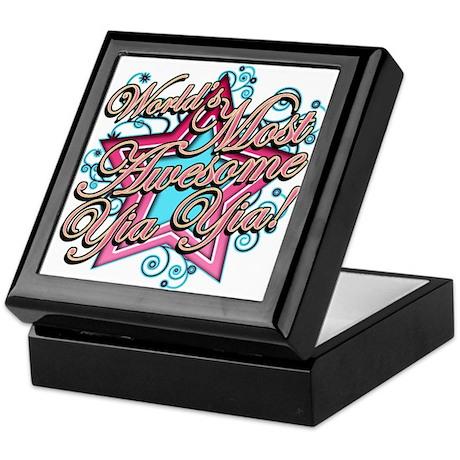 Worlds Most Awesome Yia Yia Keepsake Box
