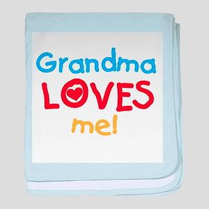 Text Grandma Loves Me baby blanket