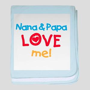 Text Nana Papa Love Me baby blanket