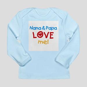 Text Nana Papa Love Me Long Sleeve Infant T-Shirt