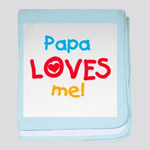 Text Papa Loves Me baby blanket