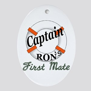 Captain Ron Ornament (Oval)