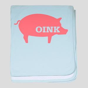 Pig: Oink baby blanket