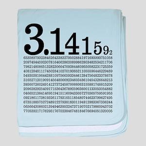 3.1415926 Pi baby blanket