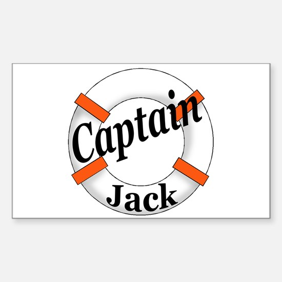 Captain Jack Sticker (Rectangle)