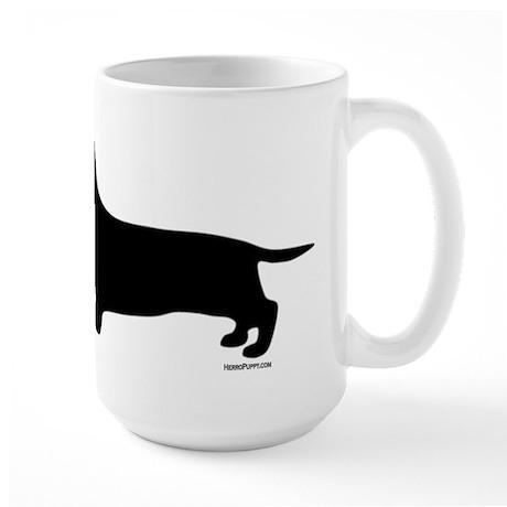 Dachshund Silhouette Large Mug