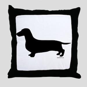 Dachshund Silhouette Throw Pillow
