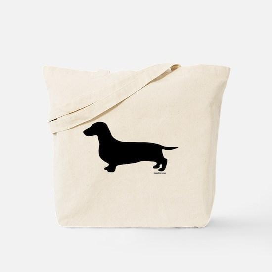 Dachshund Silhouette Tote Bag