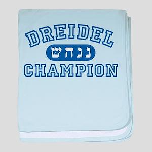 Dreidel Champion baby blanket