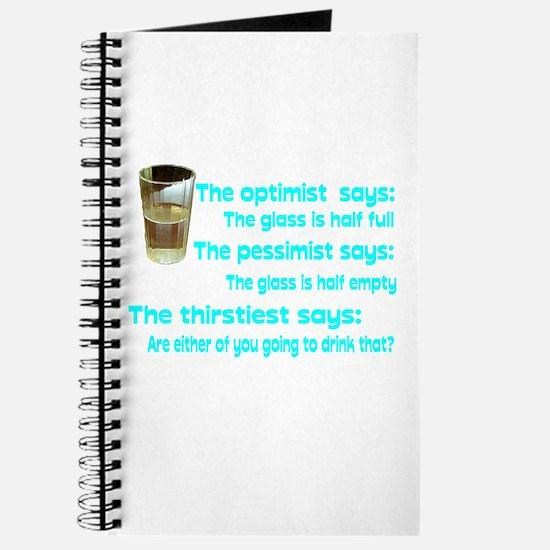 Optimist? Pessimist? Thirstiest. Journal