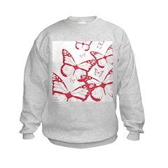 Red Dot Butterfly Sweatshirt